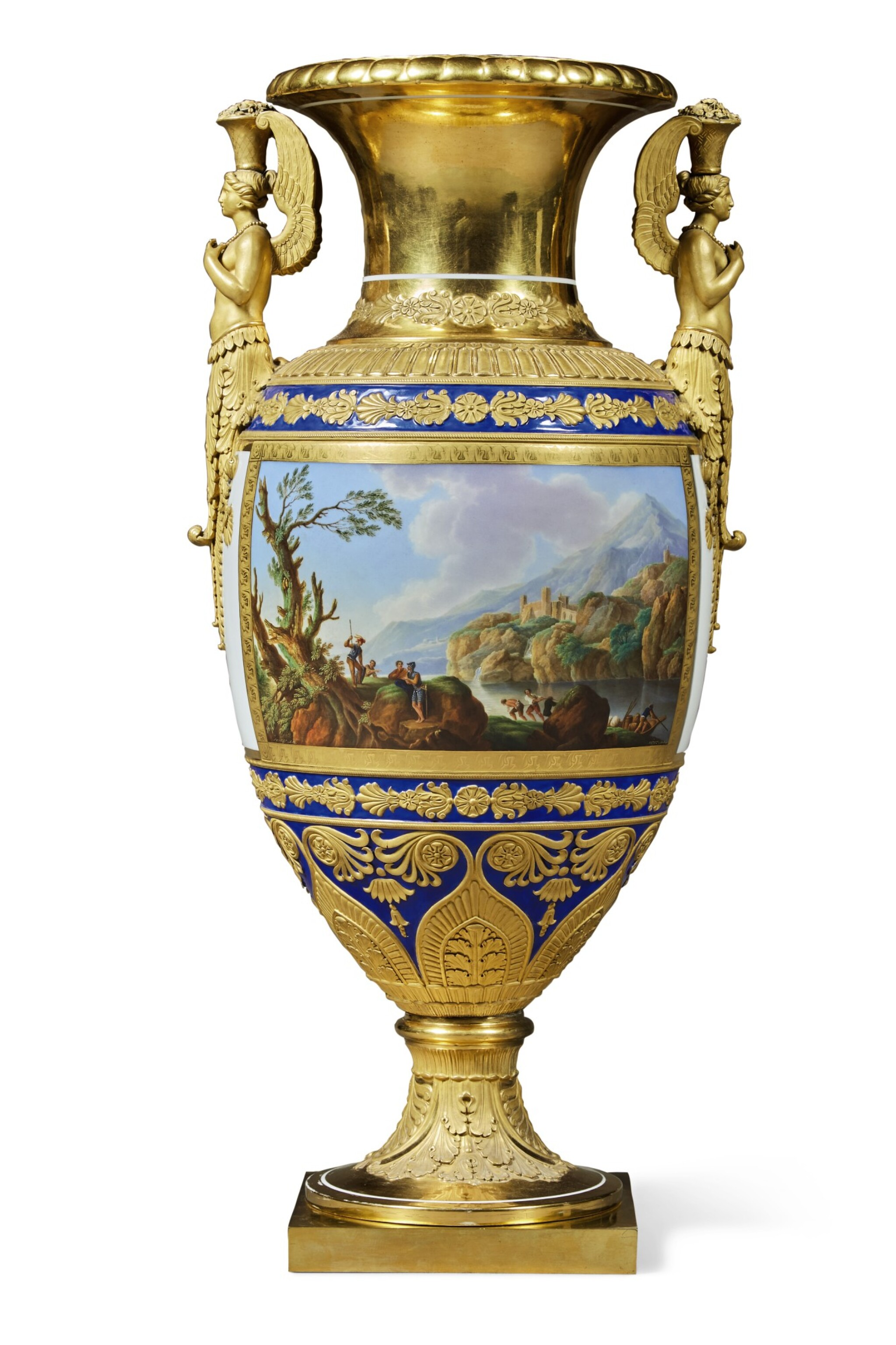 View full screen - View 1 of Lot 126. A Rare and Impressive Porcelain Vase, Imperial Porcelain Factory, St Petersburg, period of Nicholas I (1825-1855), 1834.