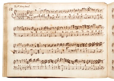 View 2. Thumbnail of Lot 81. H. Purcell. 'The Armstrong-Finch manuscript'. Important early volume of sonatas for violin and for flute, 1691-1720.
