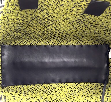 View 8. Thumbnail of Lot 705. BOTTEGA VENETA | LIME GREEN CABAT PM IN INTRECCIATO NAPPA WITH BLACK THREAD, 2010.