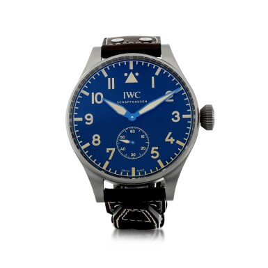 View 1. Thumbnail of Lot 53. REFERENCE IW5104-01 BIG PILOT HERITAGE 55 A LIMITED EDITION TITANIUM WRISTWATCH, CIRCA 2016.