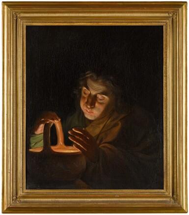 View 3. Thumbnail of Lot 7. MARTIN FERDINAND QUADAL  |  A MAN BLOWING ON A LAMP.