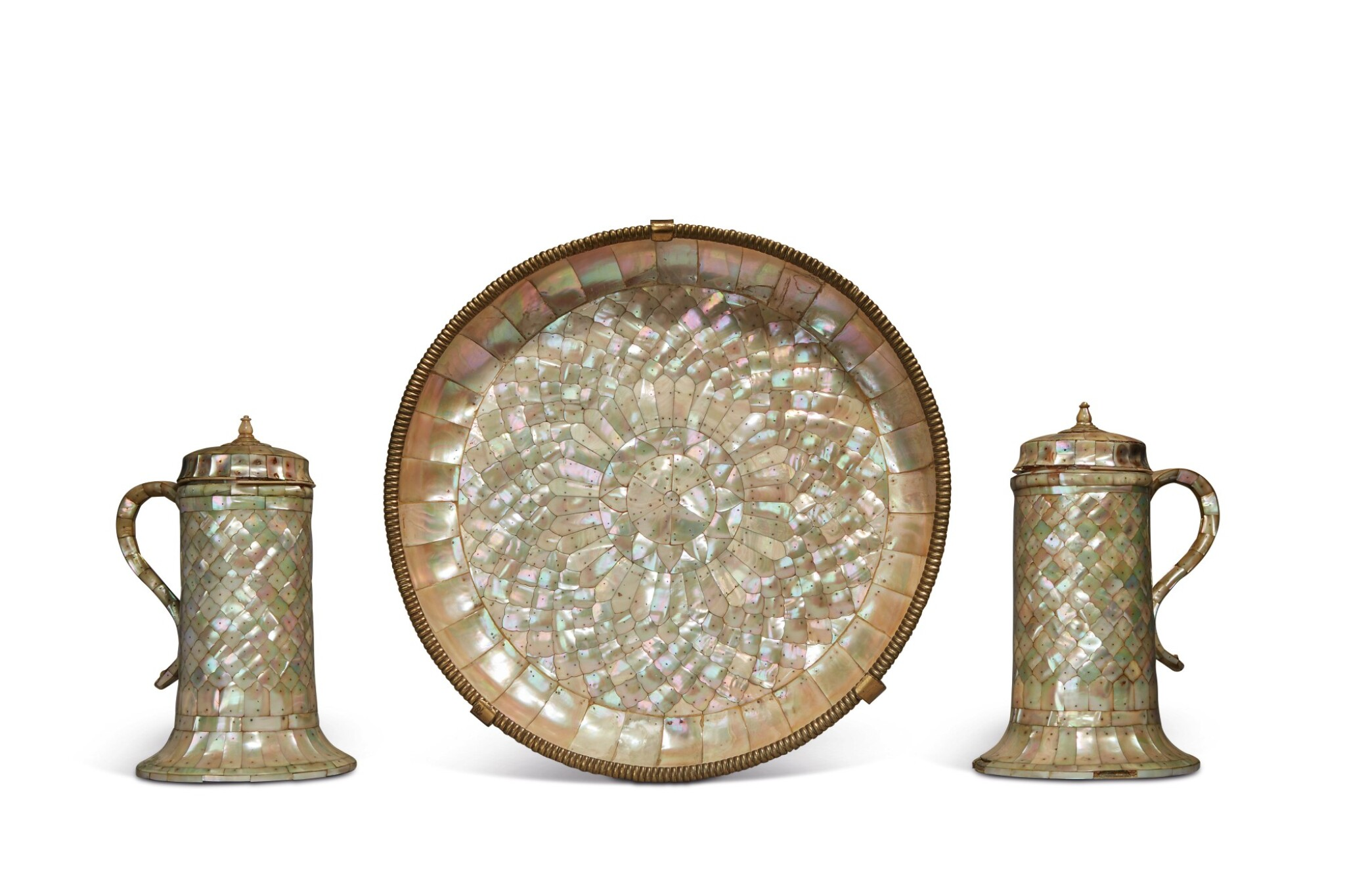 View full screen - View 1 of Lot 755. Set of Two Ewers and a Basin.