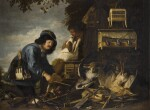 CHRISTIAN VAN COUWENBERGH | Hunters with their dog, game and hunting equipment