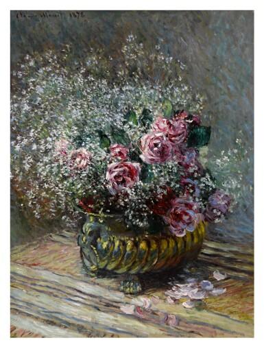 View 1. Thumbnail of Lot 1007. Fleurs dans un pot (Roses et brouillard).