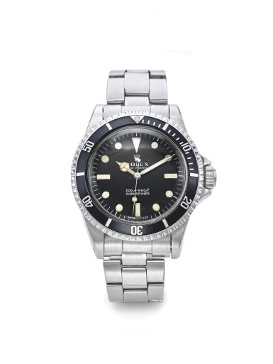 ROLEX | REF 5513 SUBMARINER, A STAINLESS STEEL AUTOMATIC CENTER SECONDS WRISTWATCH WITH BRACELET CIRCA 1968