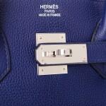 Hermès Bleu Encre Birkin 35cm of Togo Leather with Palladium Hardware