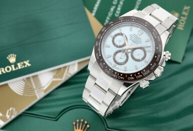 View 7. Thumbnail of Lot 112. ROLEX | REFERENCE 116506  A PLATINUM AUTOMATIC CHRONOGRAPH WRISTWATCH WITH CERACHROM BEZEL AND BRACELET, CIRCA 2016.