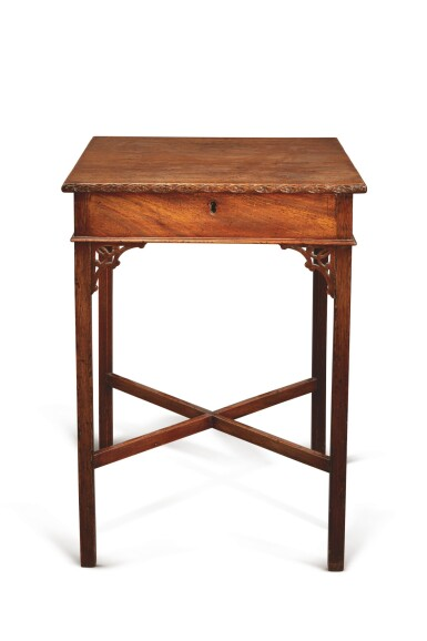 View 2. Thumbnail of Lot 501. A GEORGE III MAHOGANY SIDE TABLE, THIRD QUARTER 18TH CENTURY.