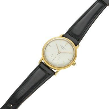 View 6. Thumbnail of Lot 239. Reference 3415  A yellow gold automatic wristwatch, Made in 1958.