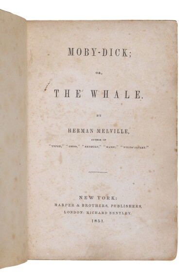 View 2. Thumbnail of Lot 103. Melville, Herman   A cornerstone of American literature.