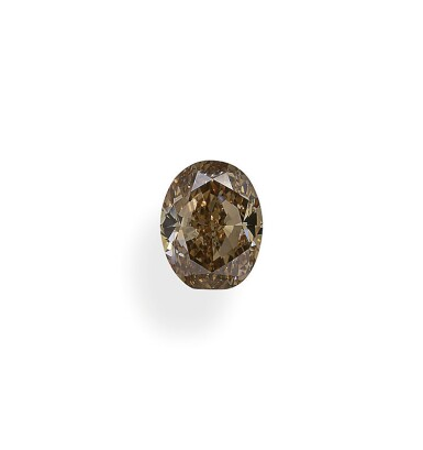 A 1.03 Carat Fancy Yellow-Brown Oval-Shaped Diamond, VS1 Clarity