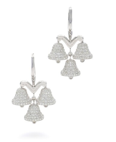 View 3. Thumbnail of Lot 39. MICHELE DELLA VALLE | PAIR OF DIAMOND EARRINGS.