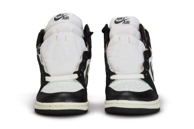 View 8. Thumbnail of Lot 11. Nike Air Jordan 1 High OG (1985) 'Black & White'  Size 8.5.
