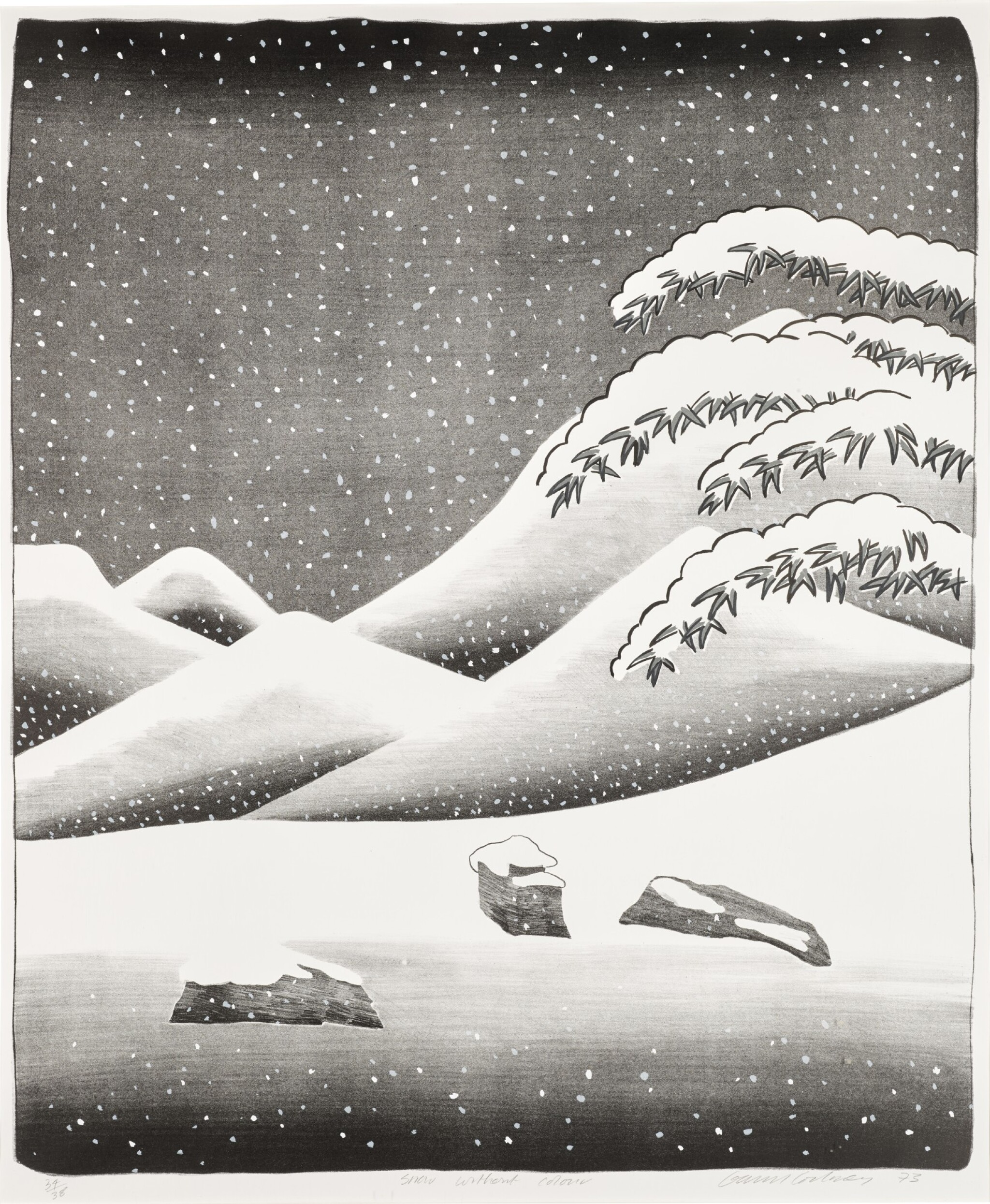 View full screen - View 1 of Lot 62. DAVID HOCKNEY, R.A. |  SNOW WITHOUT COLOUR (S.A.C. 135; MCA TOKYO 126).