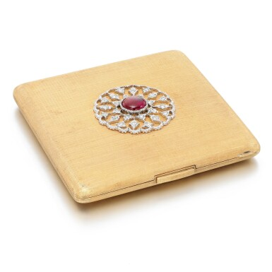 View 3. Thumbnail of Lot 127. Buccellati   Ruby and diamond compact.