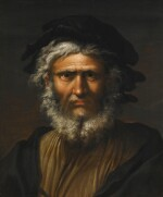 SALVATOR ROSA | Portrait of a bearded man, bust-length, traditionally identified as Masaniello | 薩爾瓦多・洛薩 | 《蓄鬚男子半身像,傳統上被視為馬薩涅洛》