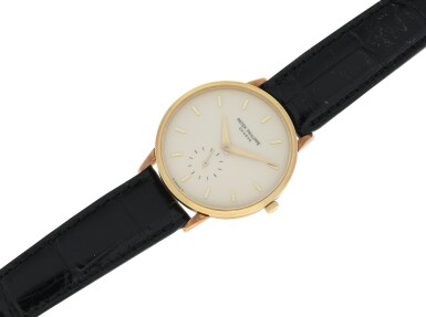 View 4. Thumbnail of Lot 156. PATEK PHILIPPE | REFERENCE 3893  A YELLOW GOLD WRISTWATCH, MADE IN 1981.