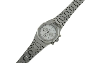 View 6. Thumbnail of Lot 12. REFERENCE 25860ST.OO.110ST.05 ROYAL OAK A STAINLESS STEEL AUTOMATIC CHRONOGRAPH BRACELET WRISTWATCH WITH DATE AND BRACELET, DONATED AND SIGNED BY GEORGE H.W. BUSH TO A SAVE THE CHILDREN CHARITY IN 2007.