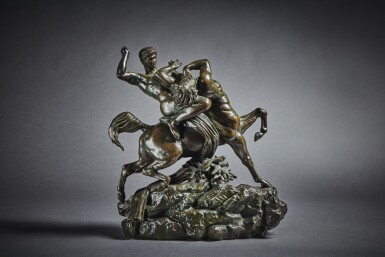 View 1. Thumbnail of Lot 244. Theseus Fighting the Centaur Bianor.