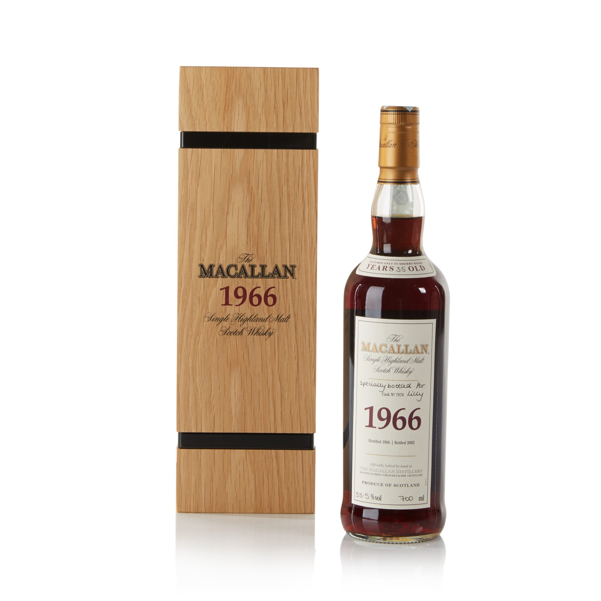 View full screen - View 1 of Lot 24. The Macallan Fine & Rare 35 Year Old 55.5 abv 1966 .