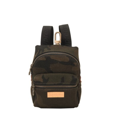 "View 1. Thumbnail of Lot 56. Louis Vuitton x Supreme Camouflage ""Apollo"" Nano Backpack of Canvas, Leather and Gold Tone Hardware."