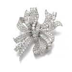 BULGARI [寶格麗] | DIAMOND BROOCH, 1950S [鑽石別針,1950年代]