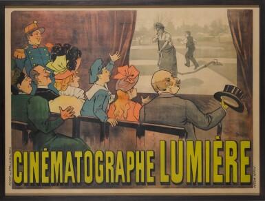 View 2. Thumbnail of Lot 40. Cinématographe Lumière (1895) Poster, French  .