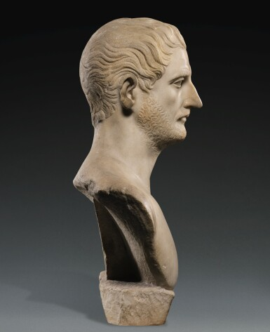 View 3. Thumbnail of Lot 42. A ROMAN MARBLE PORTRAIT BUST OF A MAN, TRAJANIC, EARLY 2ND CENTURY A.D..