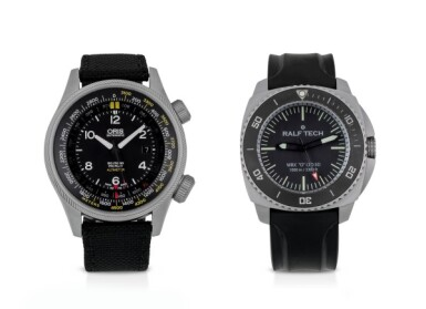 ORIS AND RALF TECH | TWO STAINLESS STEEL WRISTWATCHES CIRCA 2014