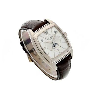 View 3. Thumbnail of Lot 159. REFERENCE 5135G GONDOLO CALENDARIO A WHITE GOLD AUTOMATIC ANNUAL CALENDAR WRISTWATCH WITH MOON PHASES, CIRCA 2010.