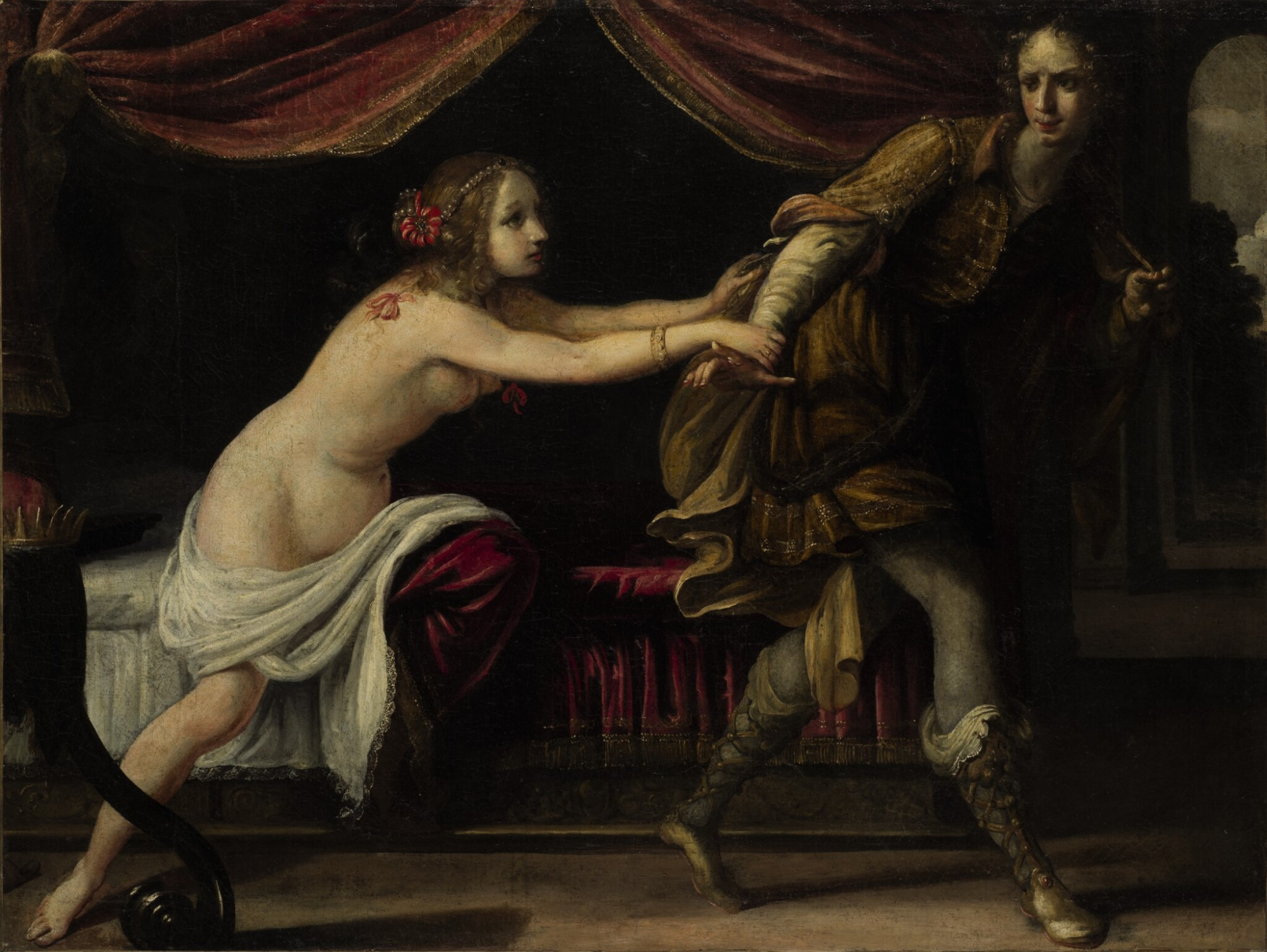 View full screen - View 1 of Lot 76. Sold Without Reserve | ATTRIBUTED TO SIMONE PIGNONI | JOSEPH AND POTIPHAR'S WIFE.