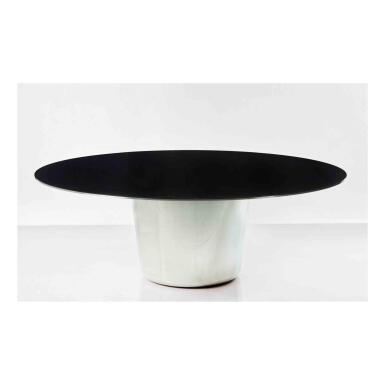 """View 1. Thumbnail of Lot 163. """"M.L."""" Table with Black Top."""