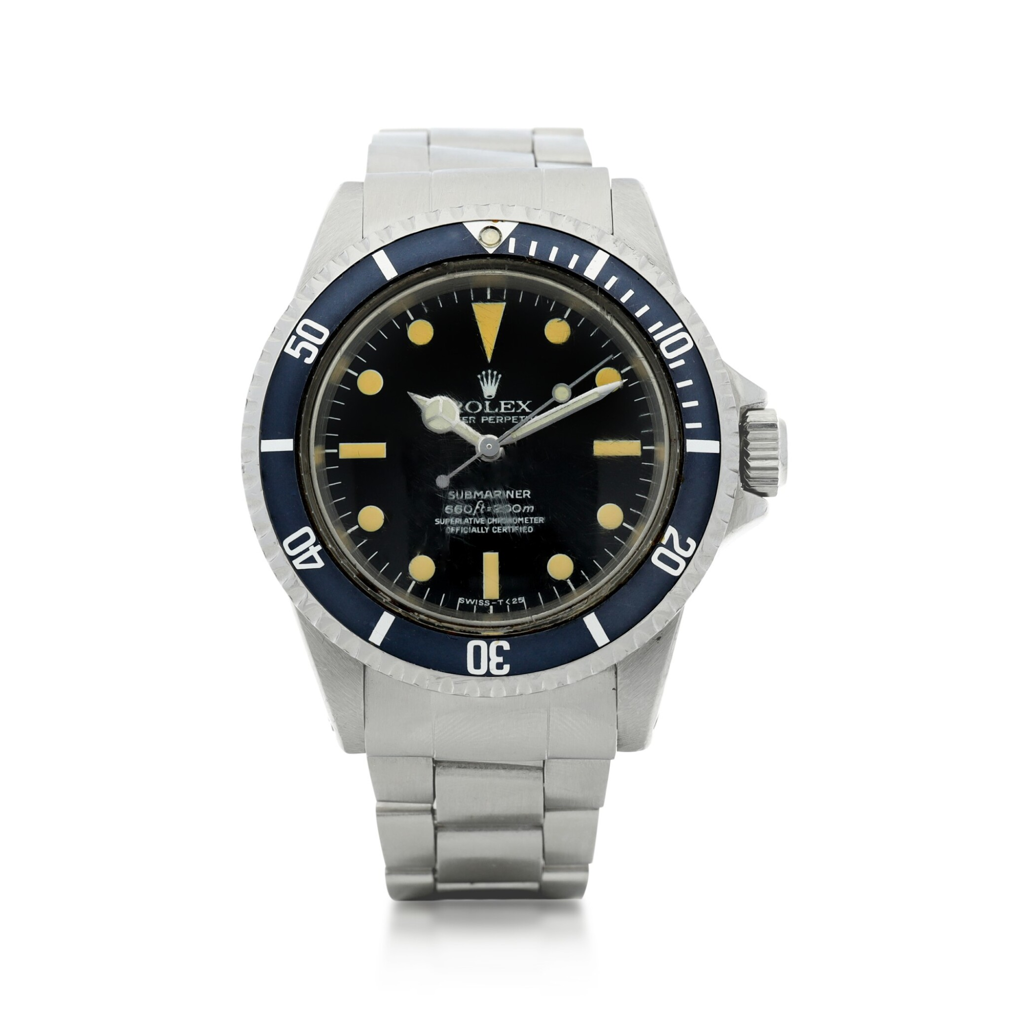 View full screen - View 1 of Lot 102. ROLEX   REFERENCE 5512 SUBMARINER A STAINLESS STEEL AUTOMATIC WRISTWATCH WITH BRACELET, CIRCA 1965.