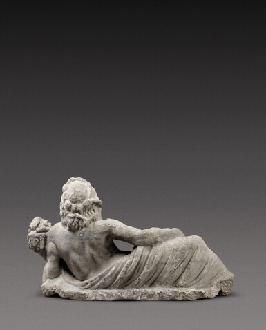 View 3. Thumbnail of Lot 68. A Roman Marble Fountain Figure of a River God, circa 2nd Century A.D..