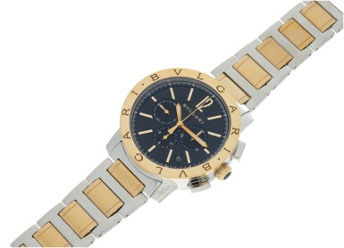 View 6. Thumbnail of Lot 7. REFERENCE BB 41 SPG CH A STAINLESS STEEL AND YELLOW GOLD AUTOMATIC CHRONOGRAPH WRISTWATCH WITH DATE AND BRACELET, CIRCA 2010.
