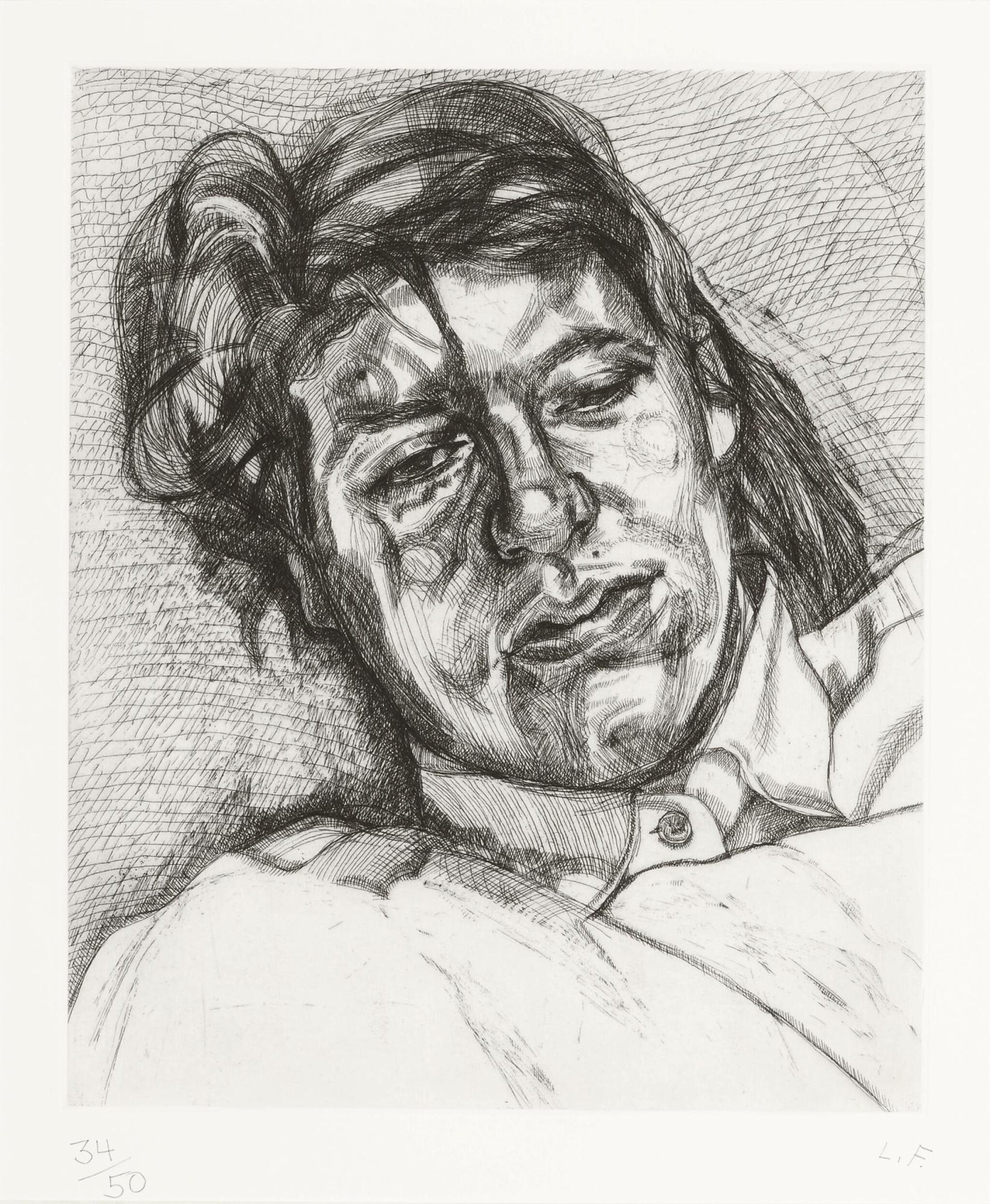 View full screen - View 1 of Lot 102. LUCIAN FREUD | BELLA (H. 30; F. 31).