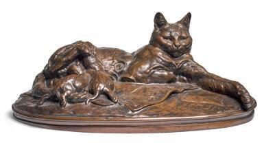 EMMANUEL FRÉMIET | CHATTE ET SES PETITS (CAT WITH HER KITTENS)