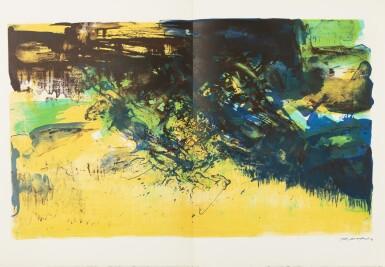 View 14. Thumbnail of Lot 181.  À la gloire de l'image.... Barcelone, 1977. 15 lithographies en couleurs. Edition originale..