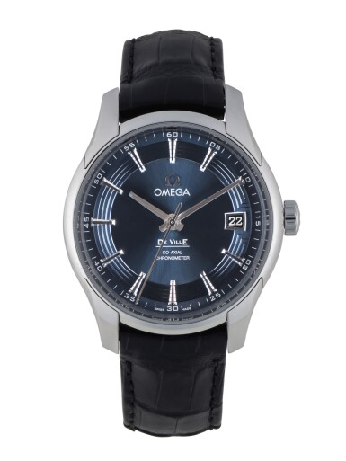 OMEGA | DE VILLE HOUR VISION, REF 43133412103001 STAINLESS STEEL WRISTWATCH WITH DATE CIRCA 2011