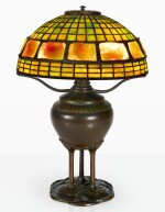 "TIFFANY STUDIOS | ""GEOMETRIC AND TURTLE-BACK"" TABLE LAMP"