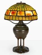 "TIFFANY STUDIOS | ""GEOMETRIC AND TURTLE-BACK"" TABLE LAMP"