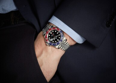 ROLEX | GMT-MASTER II PEPSI, REFERENCE 126710BLRO, STAINLESS STEEL DUAL-TIME WRISTWATCH WITH DATE AND BRACELET, CIRCA 2019