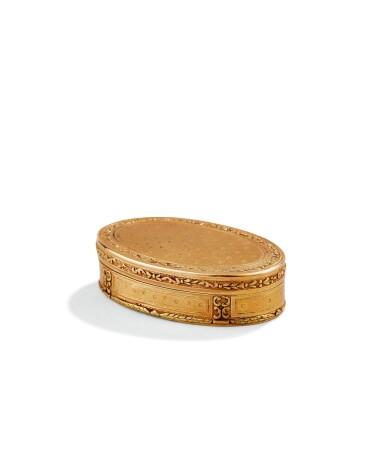 A SMALL OVAL GOLD BOX, PARIS, 1787-1788 | PETITE BOÎTE EN OR DE FORME OVALE, PARIS, 1787-1788