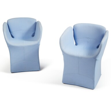 """View 2. Thumbnail of Lot 289. Pair of """"Bloomy"""" Armchairs."""