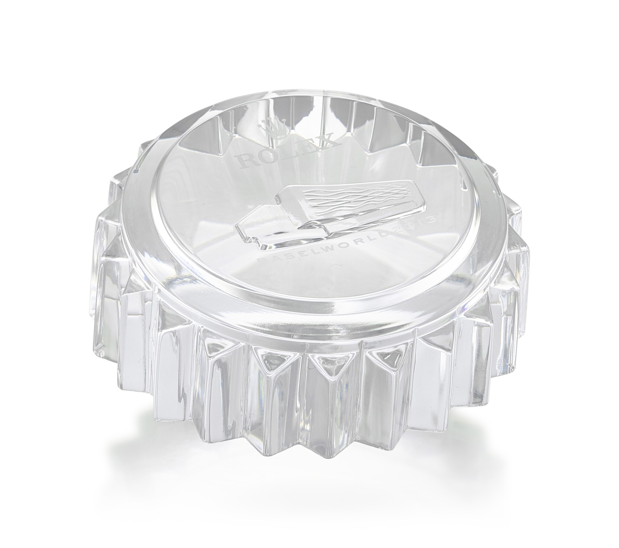 ROLEX   A CRYSTAL PAPERWEIGHT, MADE FOR BASELWORLD 2013