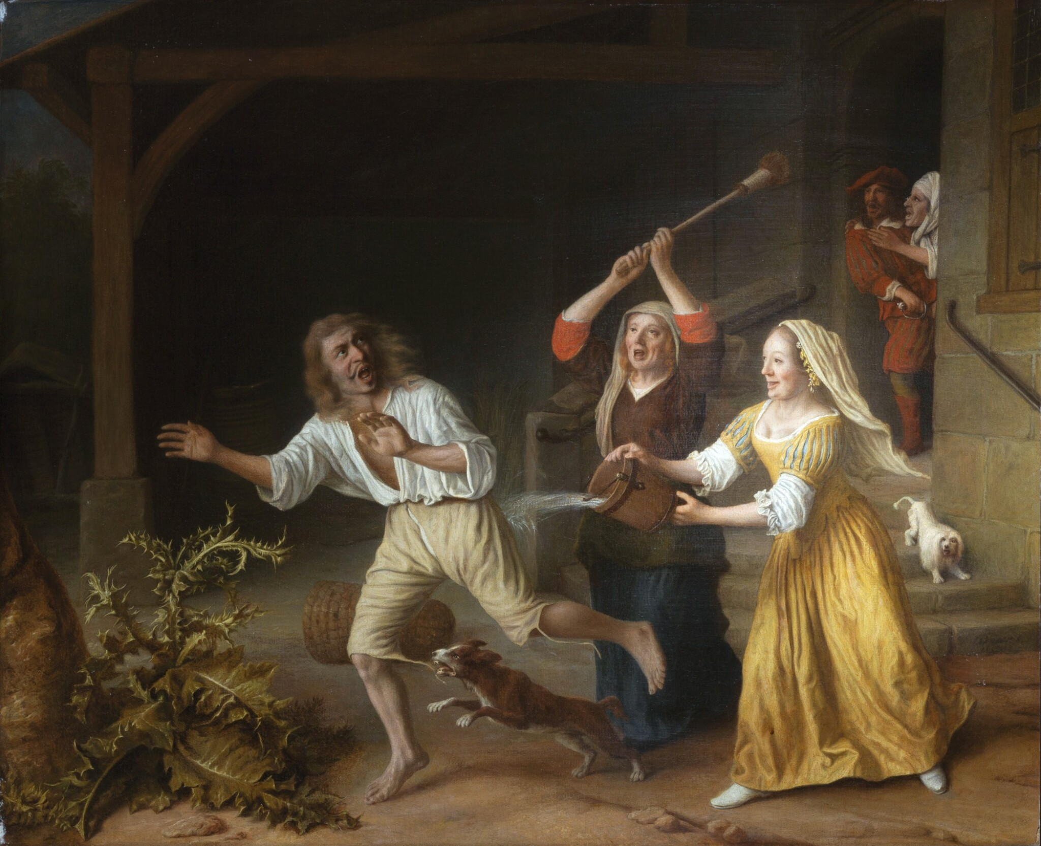 View full screen - View 1 of Lot 217. LAMBERT HARMENSZ. DOOMER | THE EXPULSION OF THE PRODIGAL SON FROM THE BROTHEL.