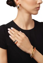 GOLD, CORAL, ONYX AND DIAMOND SUITE OF JEWELS, VAN CLEEF & ARPELS, FRANCE