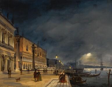 CARLO GRUBACS | Venice, a view of the Riva degli Schiavoni looking East