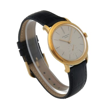 View 3. Thumbnail of Lot 87. Ref. 3454 Yellow gold wristwatch with 'reeded' bezel Made in 1962 | 百達翡麗 3454型號黃金腕錶,1962年製.