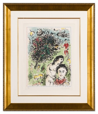 View 3. Thumbnail of Lot 32. Quinze Dernières Lithographies de Marc Chagall: 5 prints (M. 1035, 1036, 1038, 1042 and 1047).